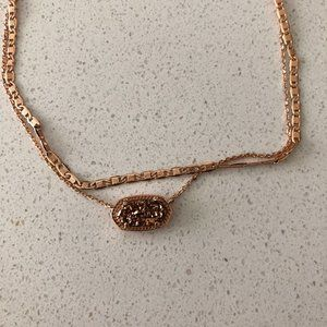 Kendra Scott Elisa Rose Gold Multi Strand Necklace